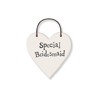 Special Bridesmaid - Mini Wooden Hanging Heart - Wedding Cracker Filler Gift