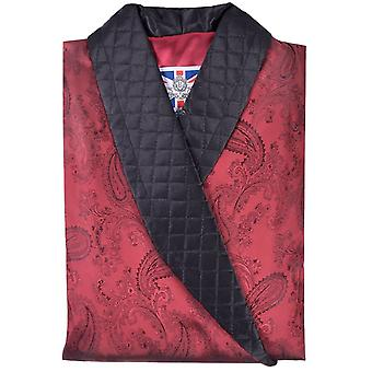런던 클라크 쇼트 스모킹 재킷의 Bown - 클라렛 부르고뉴