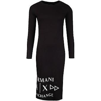 Armani Exchange Lange Mouwen Jersey Jurk