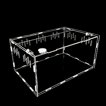 Transparent Large Durable Acrylic Terrarium Reptile Box Pet Supplies For Cold Blooded Animals