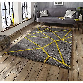Royal Nomadic 5746 Grey yellow  Rectangle Rugs Plain/Nearly Plain Rugs