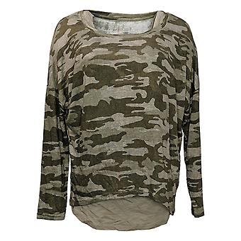 We By Living In Yellow Women's Top Slouch WEekend Tunic & Tank Green 730322