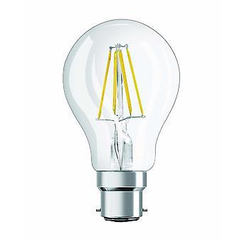 Flood spot lights led retrofit classic a/led lamp  classic bulb shape: b22d  220 to 240 v  clear  2700 k  warm white