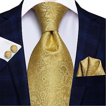 Ensemble cravate italienne 100% soie pour hommes, 8,5 cm (C-3053)