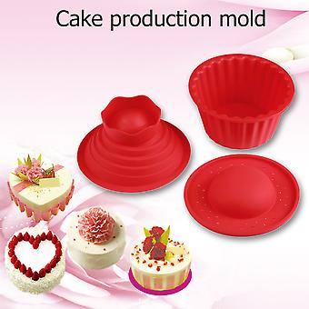 Red Giant Big Silicone Cupcake Cake Mould Top Cupcake Bake Baking Mold