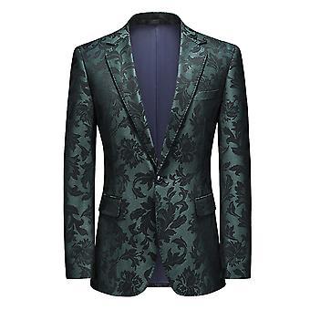 Mile Men's Dress Suit Slim Fit Floral Prints Stylish Blazer Coats Chic Jackets