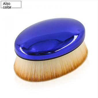 Makeup Brush No. 55 Foundation Brush With Lid Beauty Tool (blue)