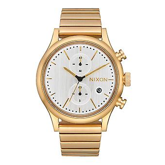 Nixon Station Chrono All Gold / Silber (A1162-2612)