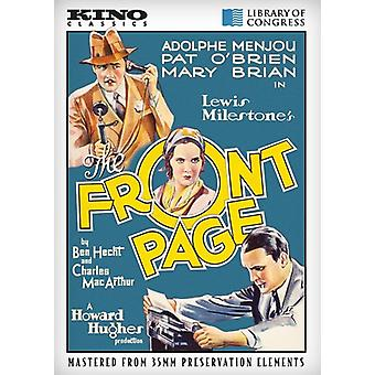 Front Page [DVD] USA import