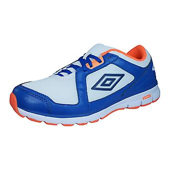 Umbro Trainer League Mens Fitness Trainers / Shoes - White Blue