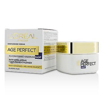 L ' Oreal-ikä täydellinen uudelleen Kosteuttava yövoide-kypsälle iholle-50ml/1.7 oz