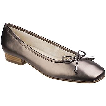 Riva Womens Provence Leather women's Ballerina Pewter