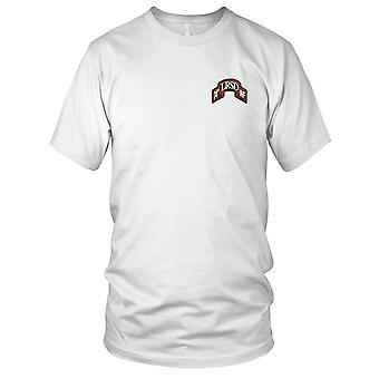 US Army - 74th lång räckvidd övervakning avlossning broderad Patch - färg rulla Mens T Shirt