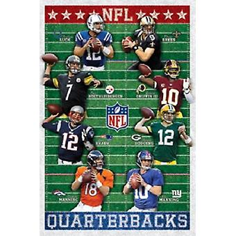 NFL quarterbackar affisch Skriv