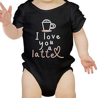 Hou een Latte Baby Romper Gift zwart