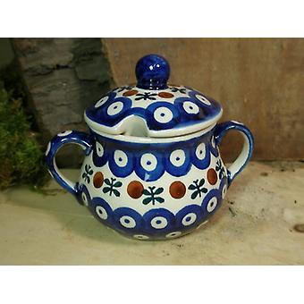 Bol de zahăr, Înălțime 10 cm, x 12 cm, tradiție 6-ceramică poloneză-BSN 22009