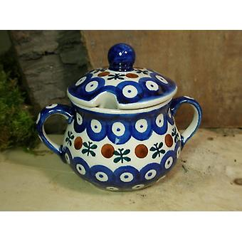 Zuckerdose, Höhe 10 cm, Ø 12 cm, Tradition 6 - polish pottery - BSN 22009