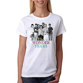 The Wonder Years Simple Cast Women's White T-shirt