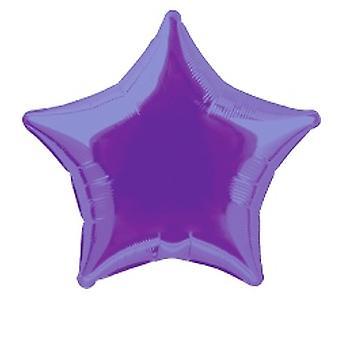 Foil Balloon Star Solid Metallic Deep Purple