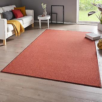 Fine loop carpet casual terracotta uni-mix