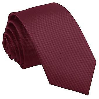 Bourgondische solide Check slanke Tie