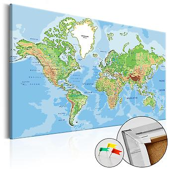 Korkbild - World Geography [Cork Map]