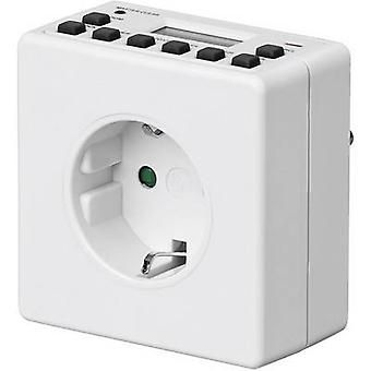 Goobay 93256 Timer/power strip digital 24h mode, 7 day mode 3600 W IP20 Daylight savings control