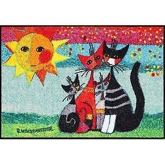 Rosina Wachtmeister Momenti mat 50 x 75 cm Salon lion cat motif floor mats