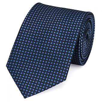 Gravata gravata gravata gravata 8cm azul escuro azul claro xadrez Fabio Farini