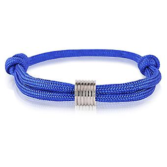 Skipper surfista band mark nodi del braccialetto blu con ciondoli in argento di 7367