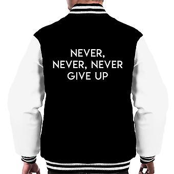 Nigdy, nigdy nie poddawaj Winston Churchill cytat mężczyzn uniwerek kurtka