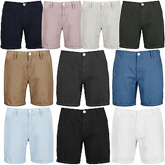 Brave Soul Mens coton Twill Smart Casual tour Up Summer Chino Short