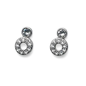 Oliver Weber Post Earring ABove Rhodium Crystal
