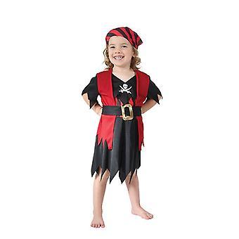 海賊少女幼児、90-104 cm。