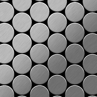 Metal mosaiikki ruostumattomia TERÄKSIÄ mitali-S-S-B