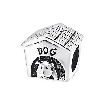 Dog Cage - 925 Sterling Silver Plain Beads - W7410x