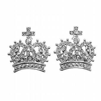 Brincos de Pierce coroa totalmente incorporados w / zircônio cúbico espumante