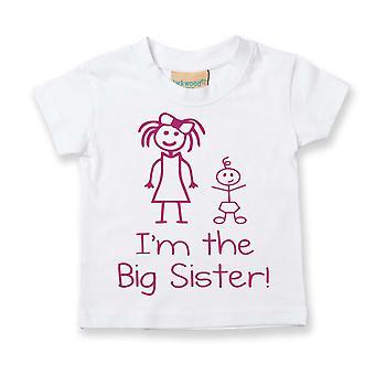 I'm The Big Sister White Tshirt