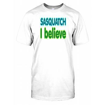 Sasquatch jeg tror - konspirasjon Mens T-skjorte