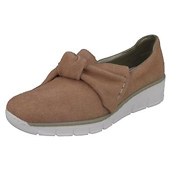 Ladies Rieker Bow Detailed Heeled Shoes 537Q4