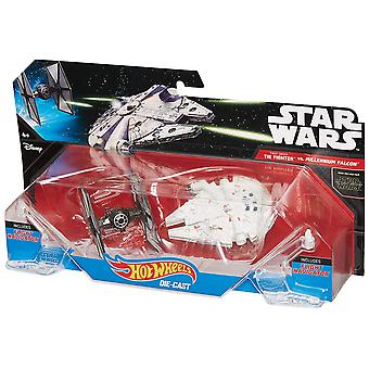 Hot Wheels Star Wars: TIE Fighter vs Millennium Falcon 2-Pack