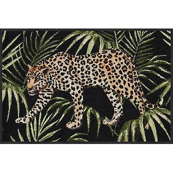 Salon lion jungle Leopard 50 x 75 cm mat washable dirt mat