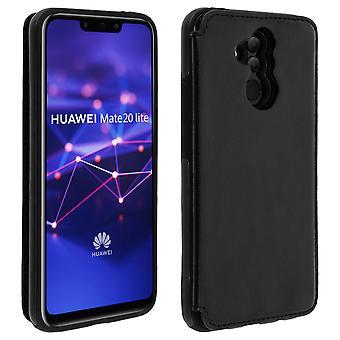Huawei Mate 20 lite Shockproof Case, Card Holder Wallet, Forcell, Black