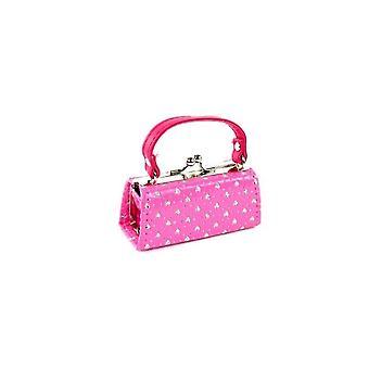 "18"" la muñeca de ropa caliente bolsa rosa con corazones"