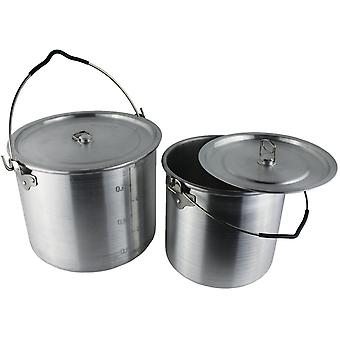 Yellowstone 2 piece Can Set Silver 6.5 & 3.5 Litre