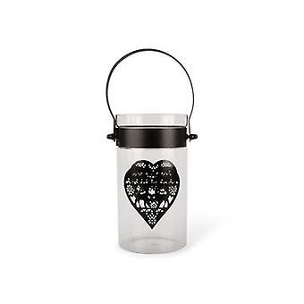 Lanterne glass med hjerte lanterne