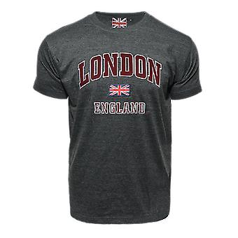 Le105cm unisex london england applique embroidery t shirt