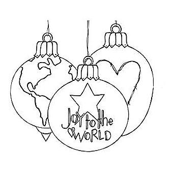 Spellbinders Joy to the World Cling Stamp Set