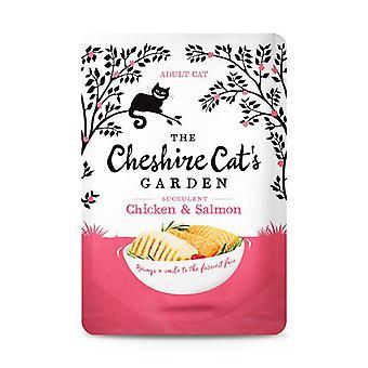 Kot z Cheshire ogród kurczaka i łososia mokry kot żywność - 1 X 85g