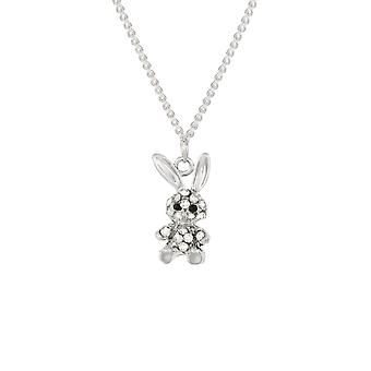 Eternal Collection Buffy The Bunny Crystal Silver Tone Pendant